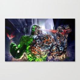 Green Ape Evolution Canvas Print