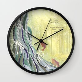 Trust Your Instincts Wall Clock