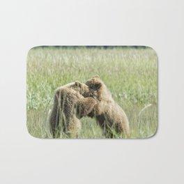 Brown Bear Cubs - Wrestling Match Bath Mat
