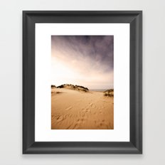 Race you to the sea! Framed Art Print
