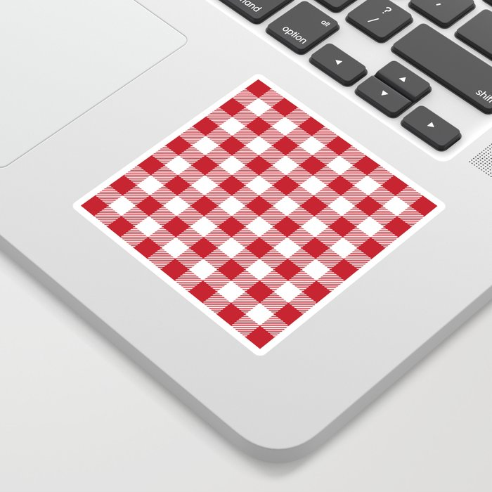 Buffalo Plaid - Red & White Sticker