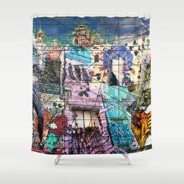 European Street Art Shower Curtain