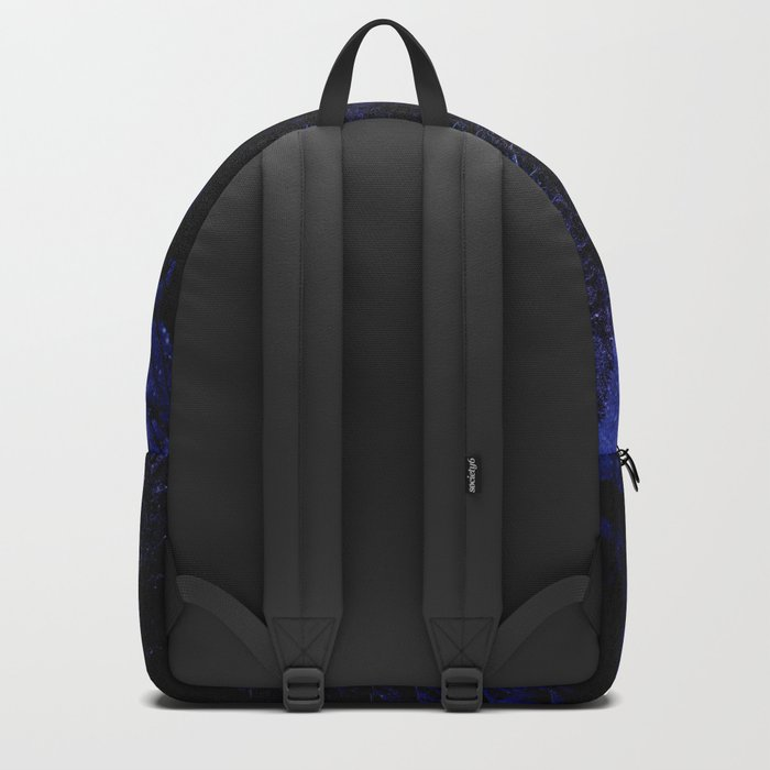 Winter Forest Deep Purple Blue Backpack