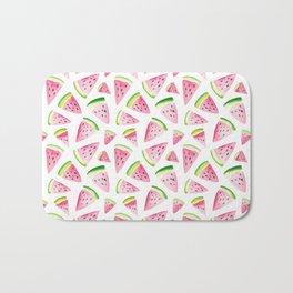 Watercolor Watermelon Pattern Bath Mat