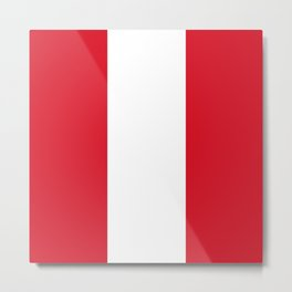 Flag of Peru Metal Print
