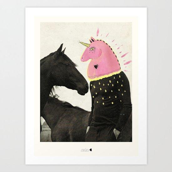 goodbye horses Art Print