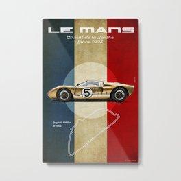Le Mans Vintage GT40 Metal Print