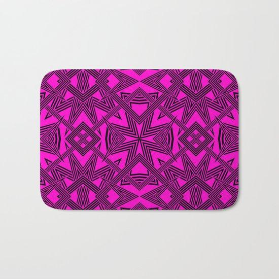 Ziggy Zaggy  |  Pink And Black Bath Mat