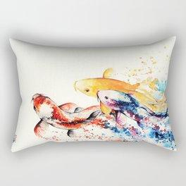 Underwater rainbow : the goldfishes Rectangular Pillow