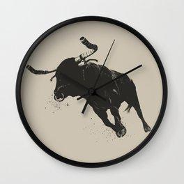 Bullhorns Wall Clock