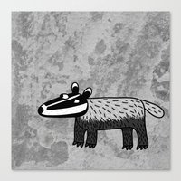 badger Canvas Prints featuring Badger by Nic Squirrell