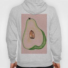 Avocado fruit watercolor Hoody