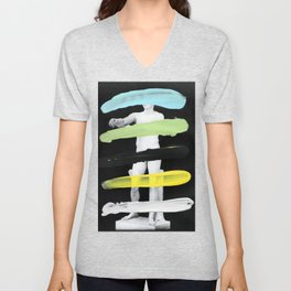 Untitled (Finger Paint 8) Unisex V-Neck