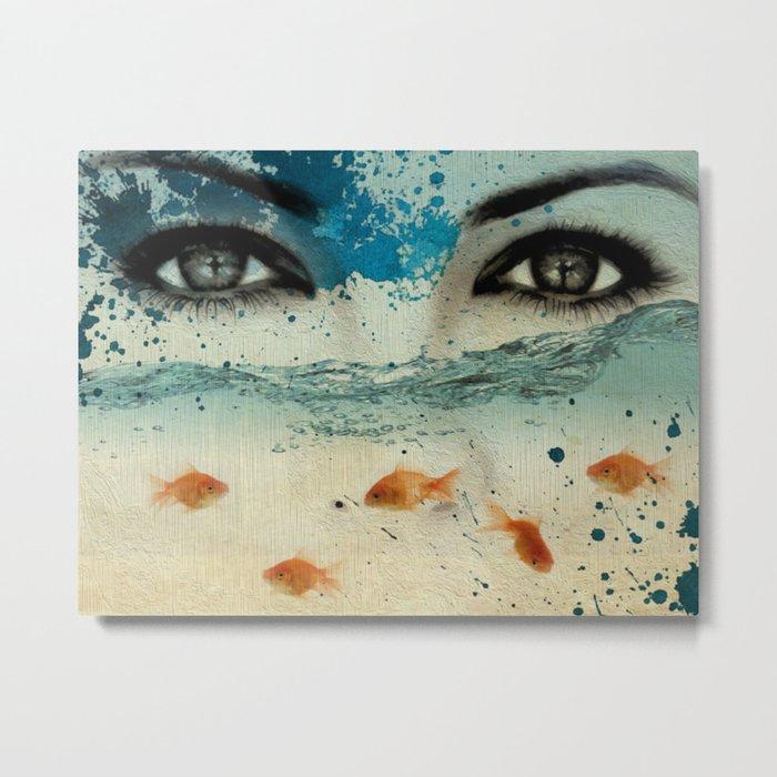 tear in the ocean Metal Print