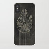 millenium falcon iPhone & iPod Cases featuring Millennium Falcon by LindseyCowley