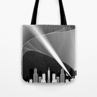 superheroes Tote Bags featuring Superheroes SF by KEFLIONE