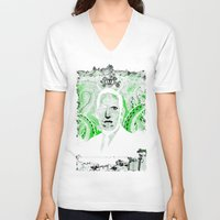 lovecraft V-neck T-shirts featuring Mr. Lovecraft by hoopsphotographic