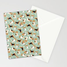 beagle scatter mint Stationery Cards