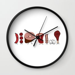 Happy Meat Family Wall Clock