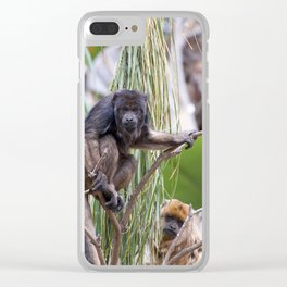 Pair of Howler Monkeys watching Clear iPhone Case