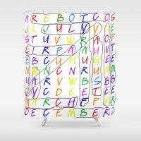 calendar Shower Curtains featuring Calendar Fun by Rissarae Designs