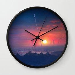 Barcelona Smoke & Neons: Montserrat Wall Clock