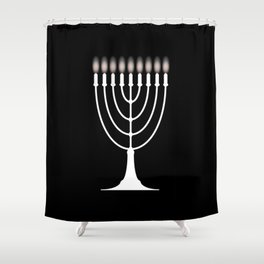 Menorh With Nine Candles Shower Curtain