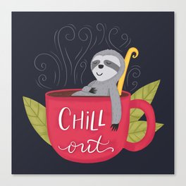 Chill Out Sloth Canvas Print