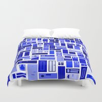 doors Duvet Covers featuring Doors - Blues by Finlay McNevin