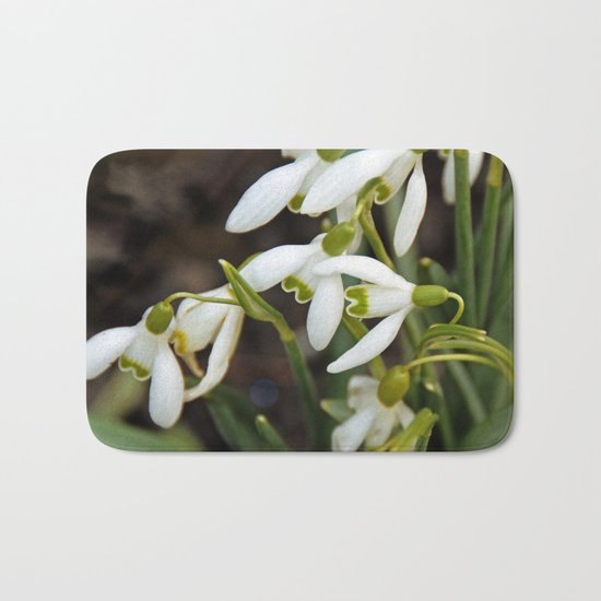 First signs of spring (snowdrops) Bath Mat