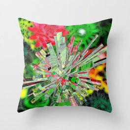 Flower Explosion Throw Pillow
