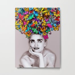 Madonna Butterfly Metal Print