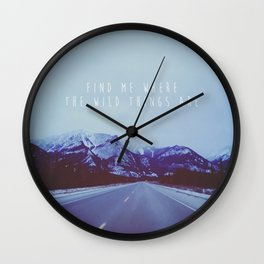 Find me in the wild Wall Clock
