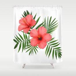 Tropical floral composition Shower Curtain