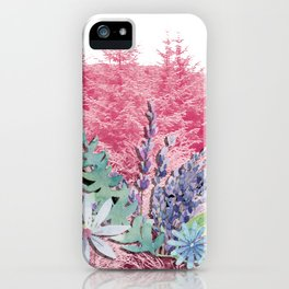 Floral stag antlers iPhone Case