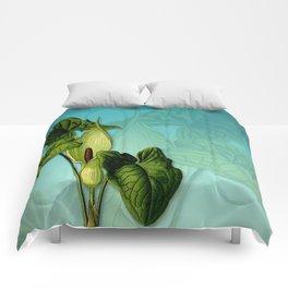 Vivid Arum & Leaves Comforters