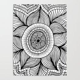 Doodle Flower Poster