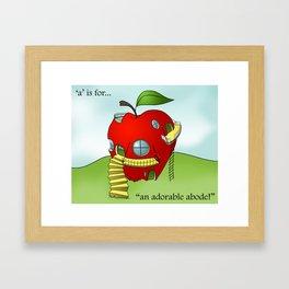 A is for... Framed Art Print