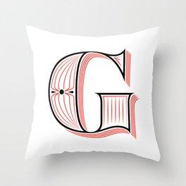 G Drop Cap Throw Pillow