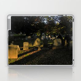 Headstones in a Fall Sunset Laptop & iPad Skin