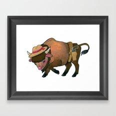 Wild West Buffalo Framed Art Print