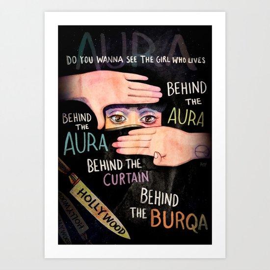 Behind The Aura Art Print