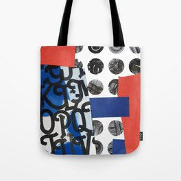 Calligraphy Anaglyph Patterns Tote Bag
