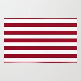 Jester Red Beach Hut Horizontal Stripe Fall Fashion Rug