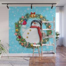 snowman and pal Wall Mural