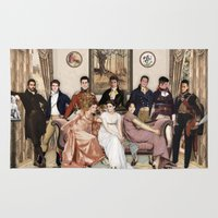 pride and prejudice Area & Throw Rugs featuring Pride and Prejudice and Werewolves by DeadPlants
