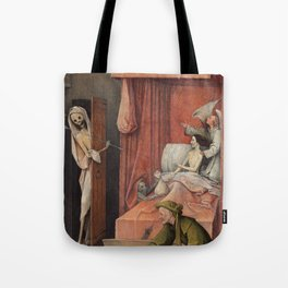 Hieronymus Bosch - Death And The Miser. Tote Bag