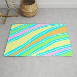 Pastel Shade Tiger Stripes Rug