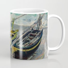 Three Fishing Boats by Claude Monet Coffee Mug