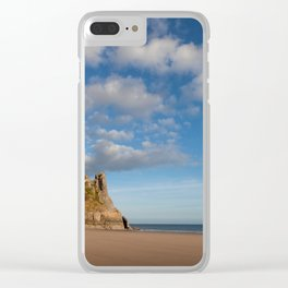 The Great Tor on the Gower peninsular Clear iPhone Case
